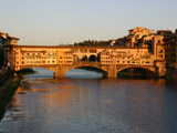 ヴェッキオ橋の夕焼け