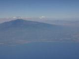 飛行機からのエトナ山